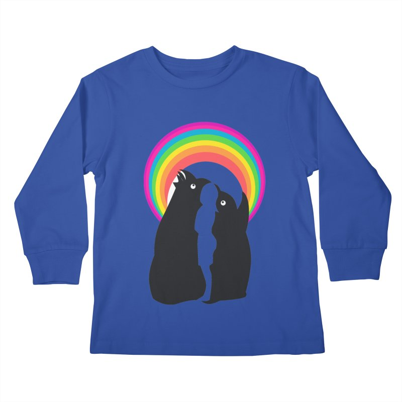 PENGUINS, GIRL, RAINBOW Kids Longsleeve T-Shirt by kajenoz's Artist Shop