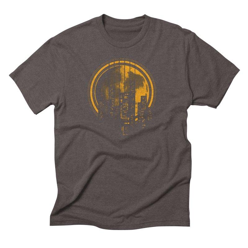 Six String City Nights Men's Triblend T-shirt by Kakolak