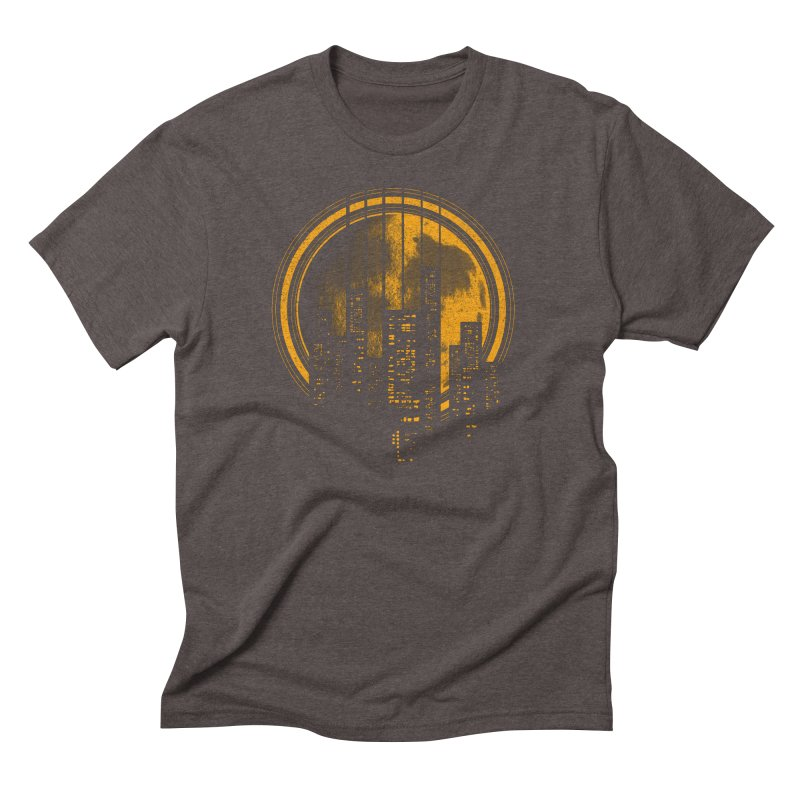 Six String City Nights Men's Triblend T-shirt by Kakolak
