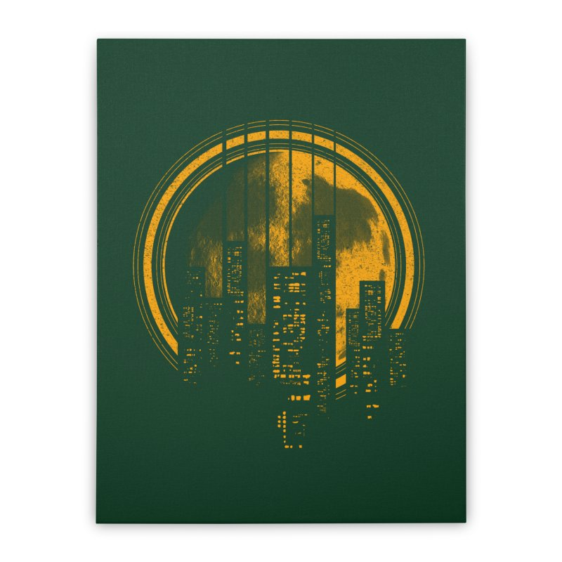 Six String City Nights Home Stretched Canvas by Kakolak