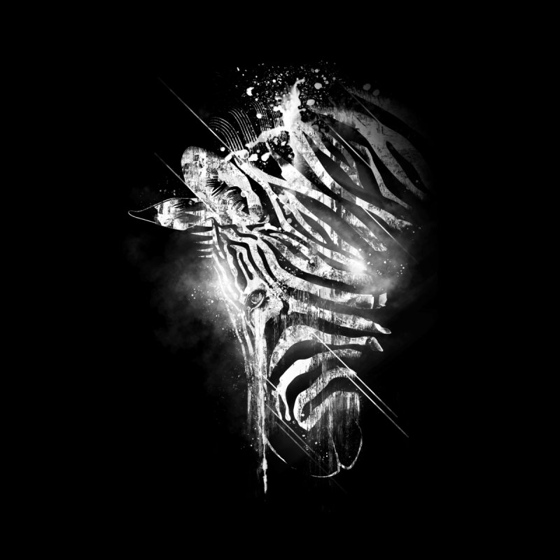 Zebra Mood Home Fine Art Print by Kakolak