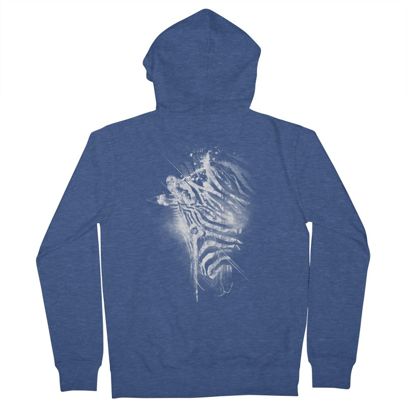 Zebra Mood Men's Zip-Up Hoody by Kakolak