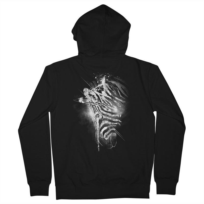 Zebra Mood Men's Zip-Up Hoody by Kakolak