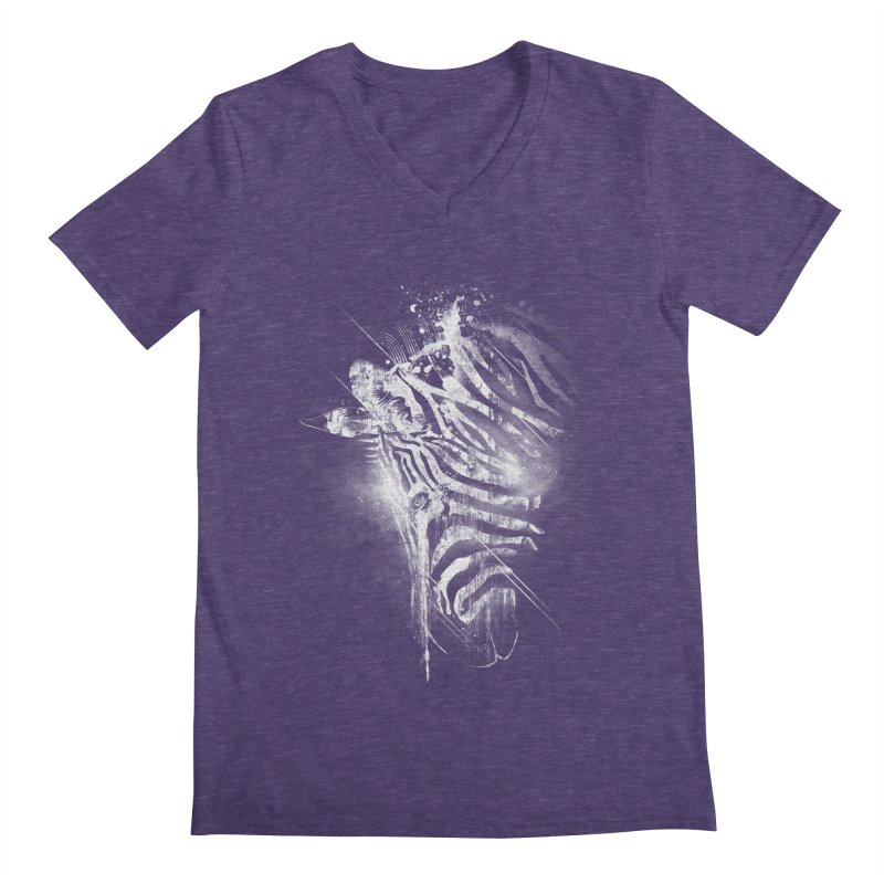 Zebra Mood Men's V-Neck by Kakolak