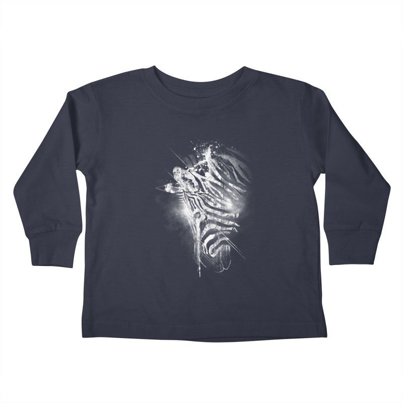 Zebra Mood Kids Toddler Longsleeve T-Shirt by Kakolak