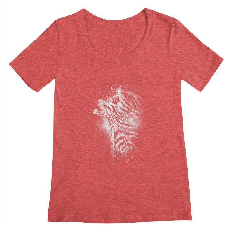 Zebra Mood Women's Scoopneck by Kakolak