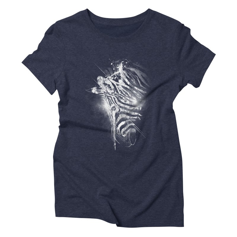 Zebra Mood Women's Triblend T-Shirt by Kakolak