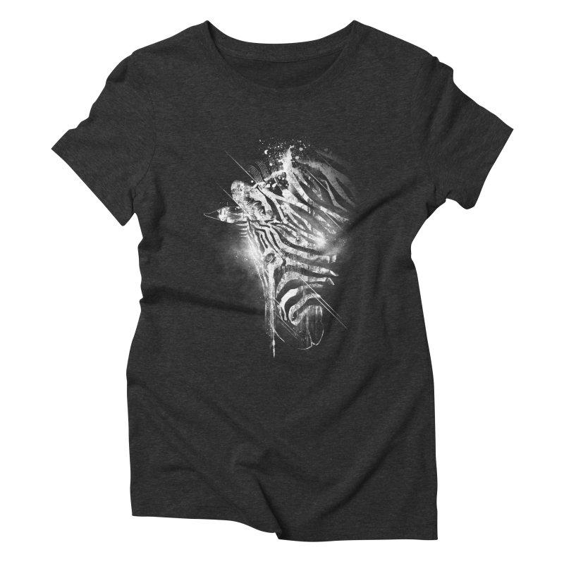 Zebra Mood Women's Triblend T-shirt by Kakolak