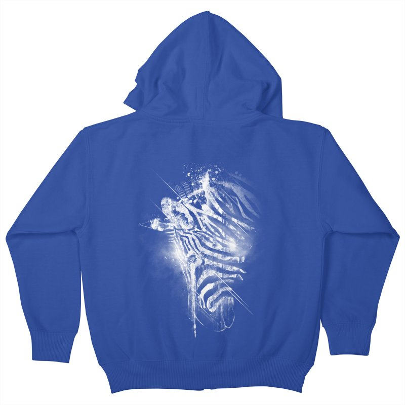 Zebra Mood Kids Zip-Up Hoody by Kakolak
