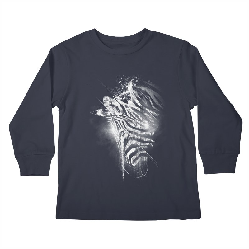 Zebra Mood Kids Longsleeve T-Shirt by Kakolak