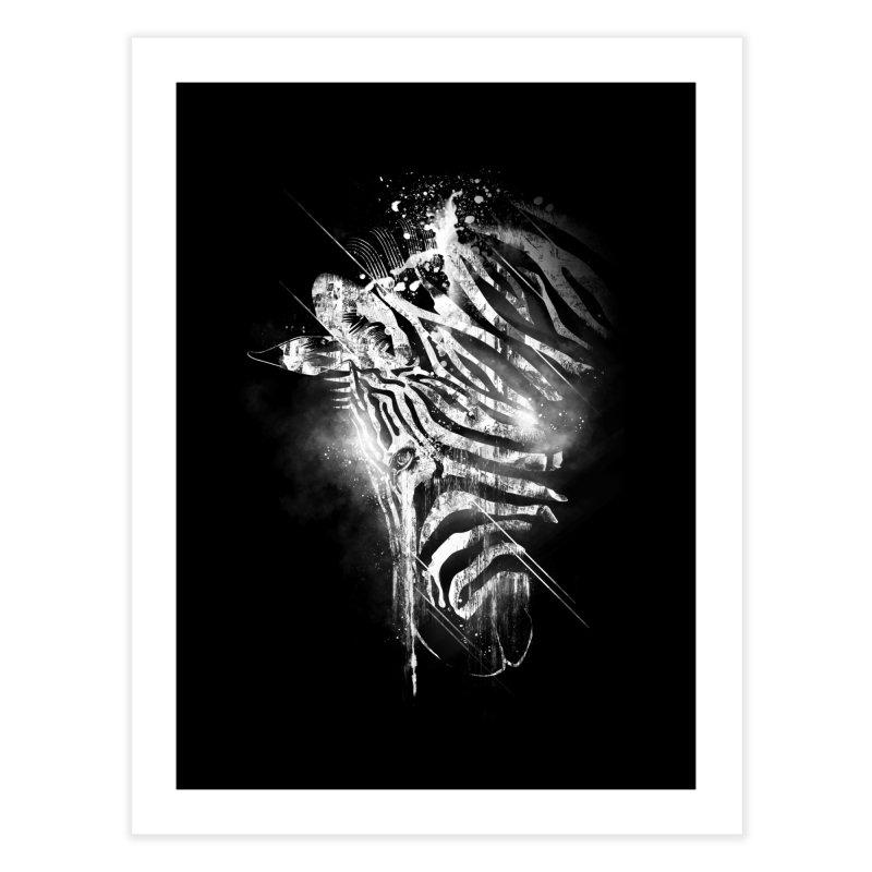 Zebra Mood Home Fine Art Print by Kakolak