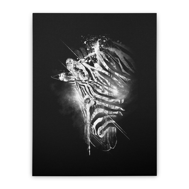 Zebra Mood Home Stretched Canvas by Kakolak