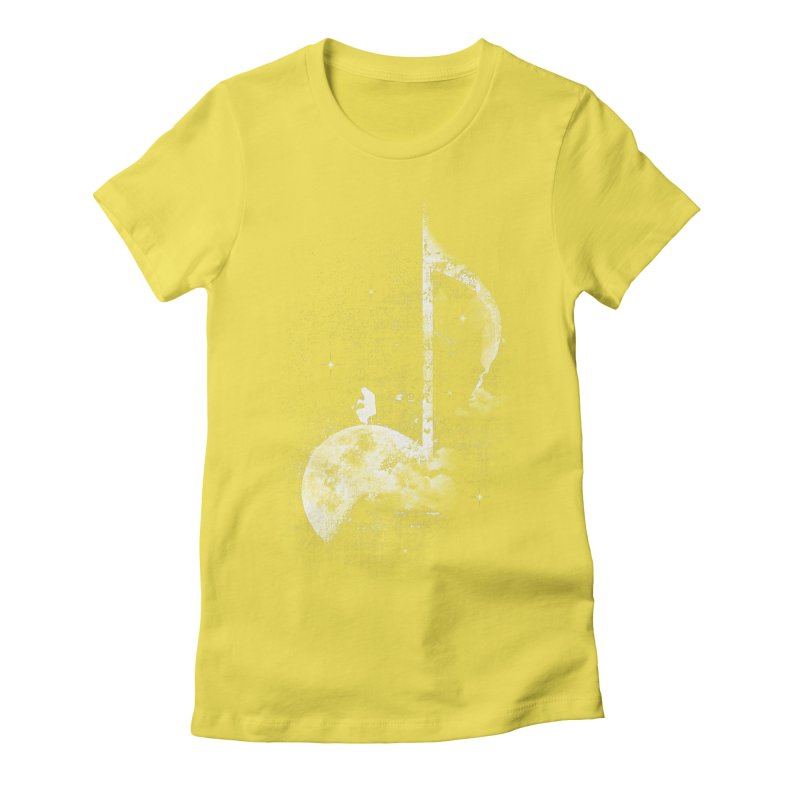 Miles On The Moon Women's Fitted T-Shirt by Kakolak
