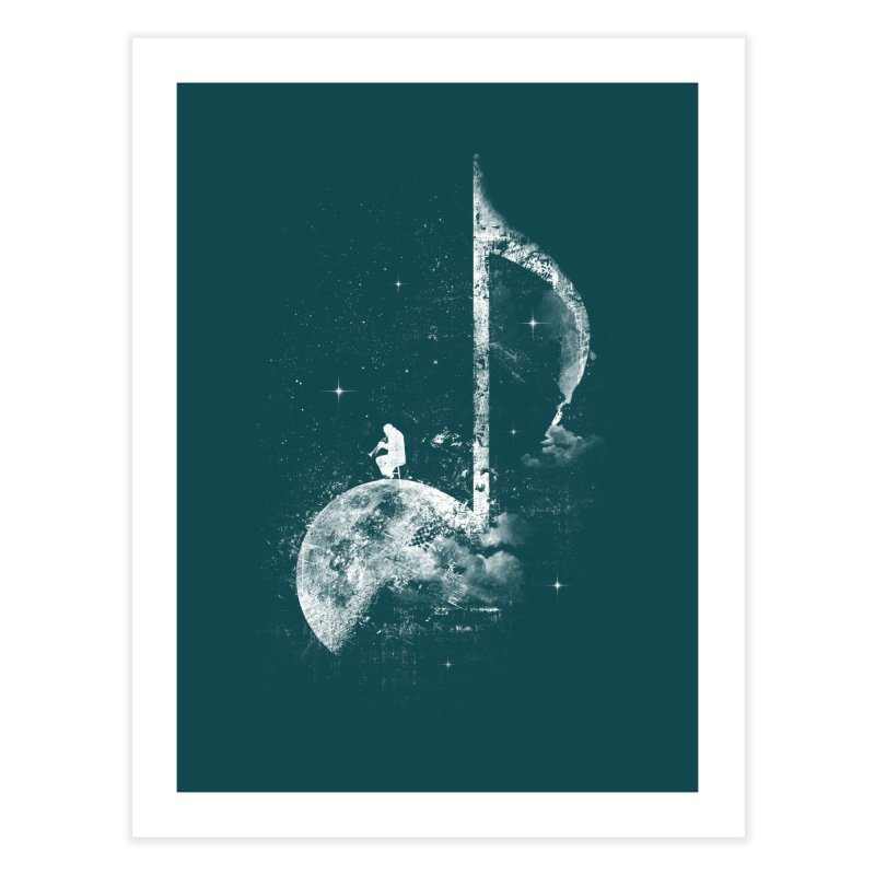 Miles On The Moon Home Fine Art Print by Kakolak