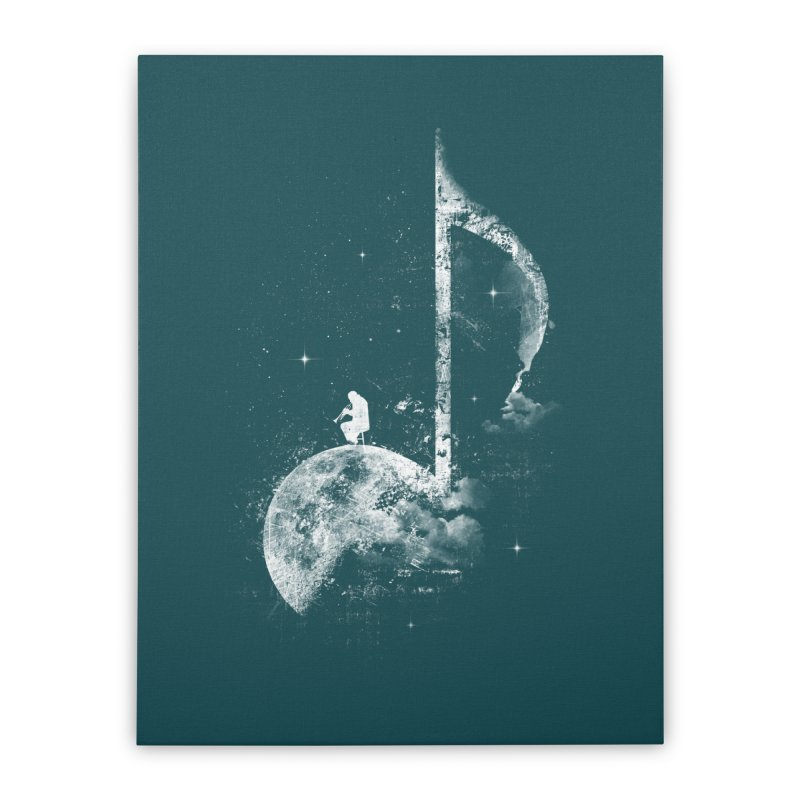 Miles On The Moon Home Stretched Canvas by Kakolak
