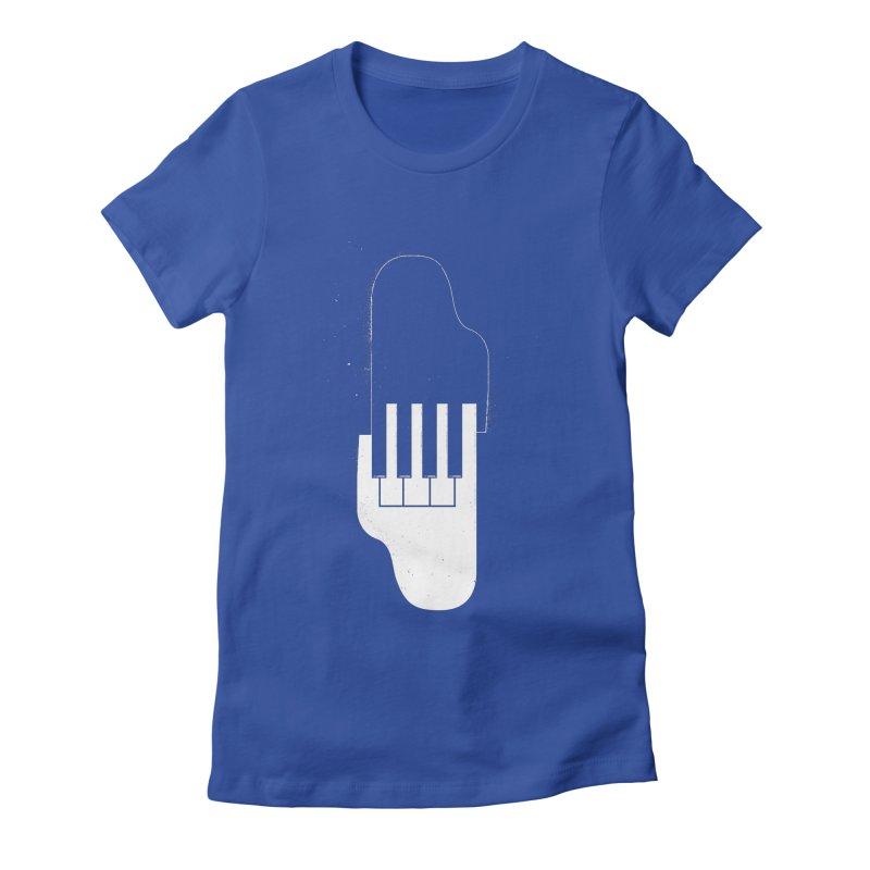 Music Hand in Hand Women's Fitted T-Shirt by Kakolak