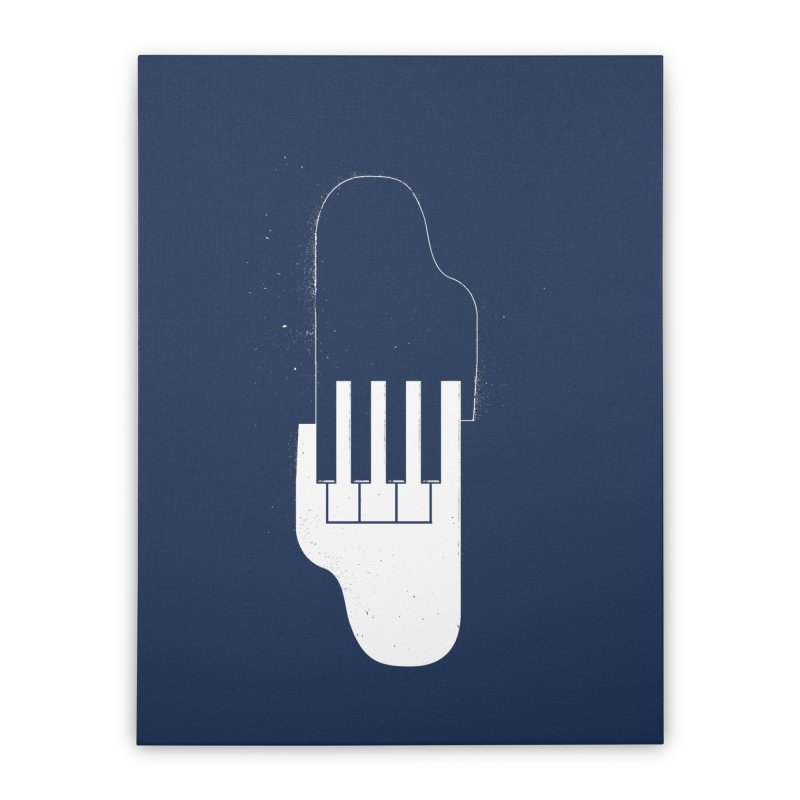 Music Hand in Hand Home Stretched Canvas by Kakolak