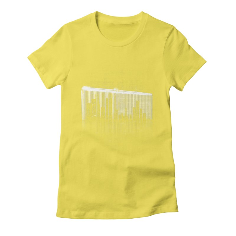 Comb Through The City Women's Fitted T-Shirt by Kakolak