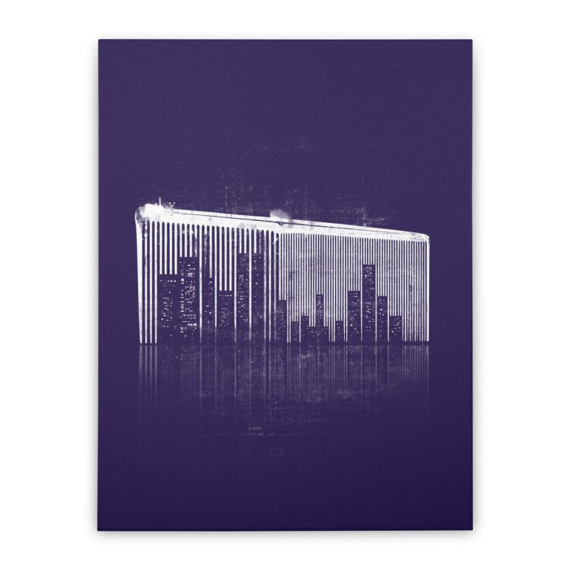 Comb Through The City Home Stretched Canvas by Kakolak