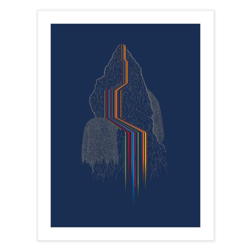 Color Falls Home Fine Art Print by Kakolak