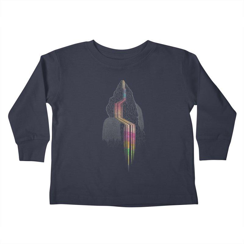 Color Falls Kids Toddler Longsleeve T-Shirt by Kakolak