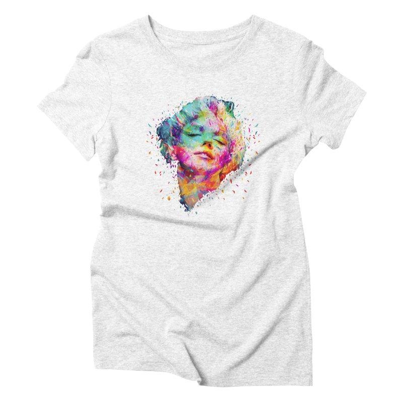 Marilyn Women's Triblend T-shirt by kaneda's Artist Shop