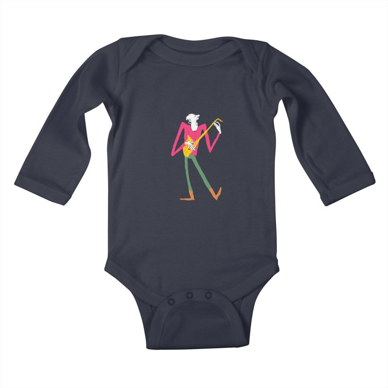 Sax Player Kids Baby Longsleeve Bodysuit by Kanjano Shop