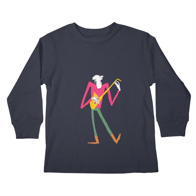 Sax Player Kids Longsleeve T-Shirt by Kanjano Shop