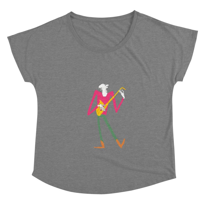 Sax Player Women's Scoop Neck by Kanjano Shop