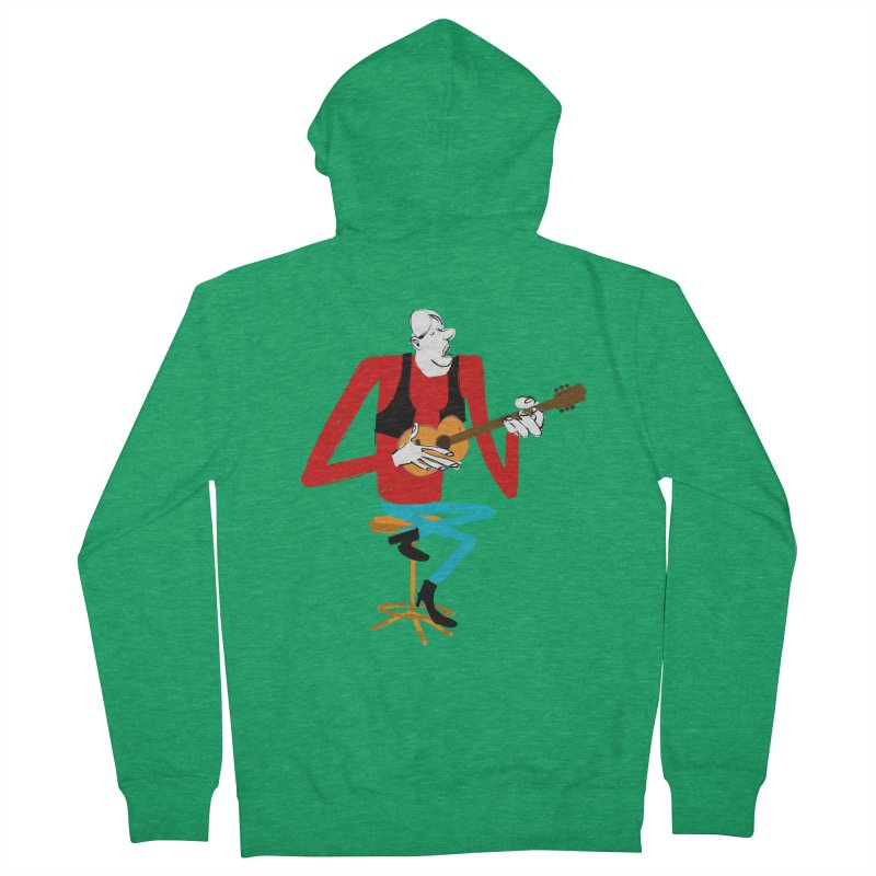 The Guitarist Women's Zip-Up Hoody by Kanjano Shop