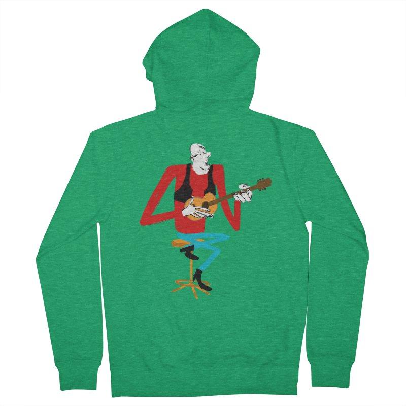 The Guitarist Men's Zip-Up Hoody by Kanjano Shop