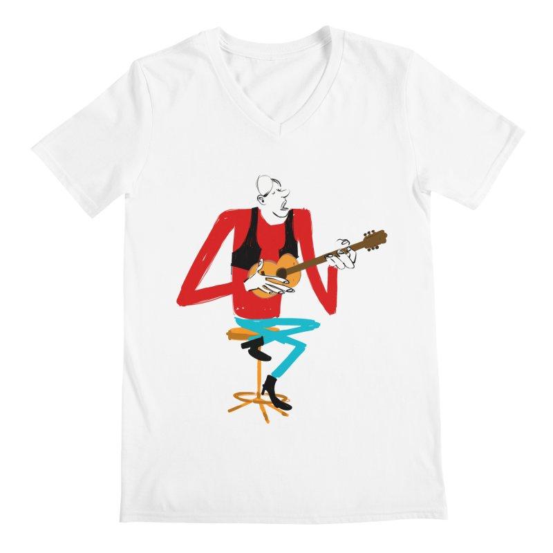 The Guitarist Men's V-Neck by Kanjano Shop