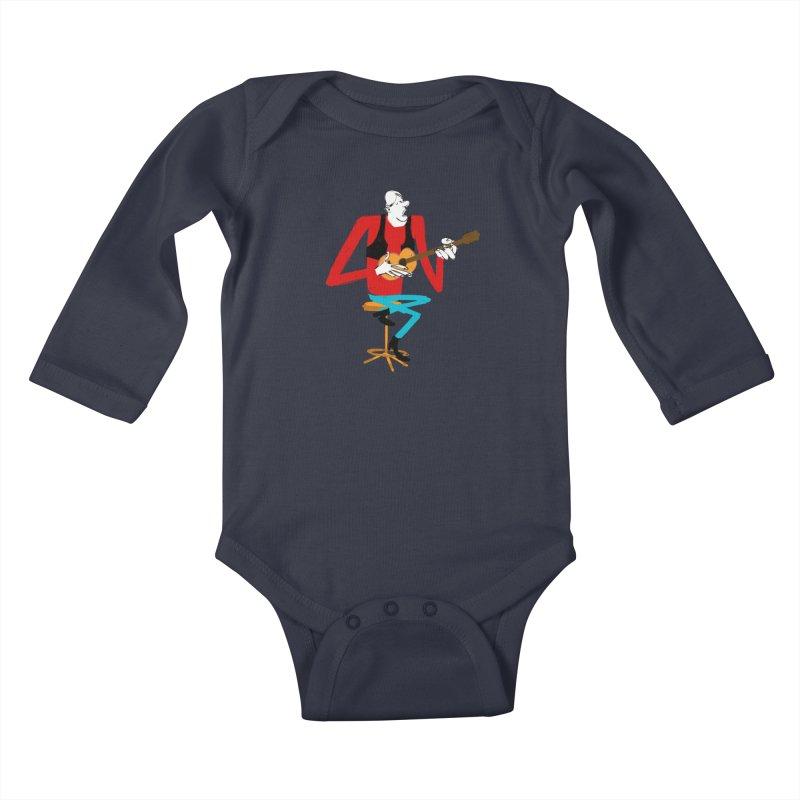 The Guitarist Kids Baby Longsleeve Bodysuit by Kanjano Shop