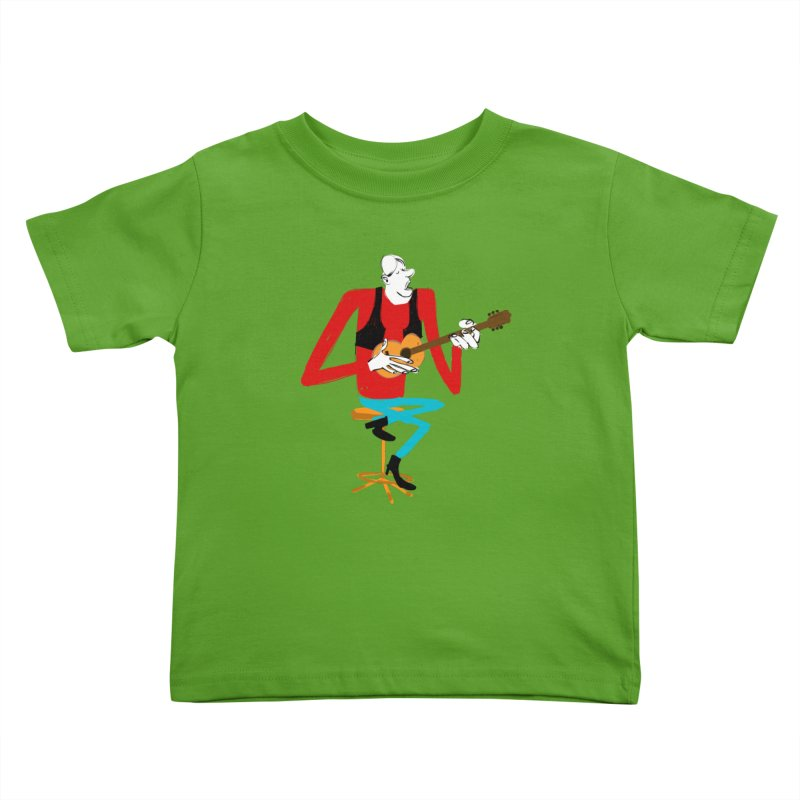 The Guitarist Kids Toddler T-Shirt by Kanjano Shop