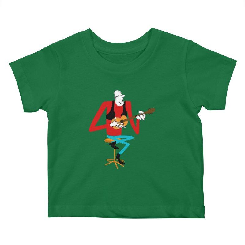 The Guitarist Kids Baby T-Shirt by Kanjano Shop