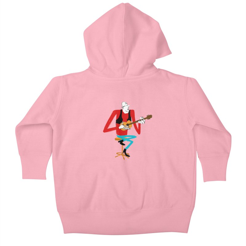 The Guitarist Kids Baby Zip-Up Hoody by Kanjano Shop