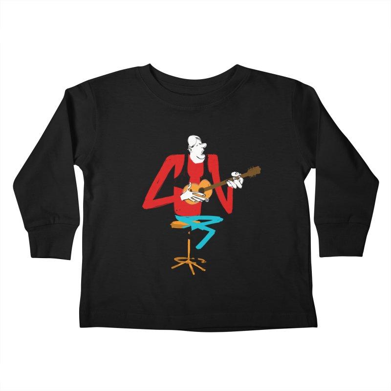 The Guitarist Kids Toddler Longsleeve T-Shirt by Kanjano Shop