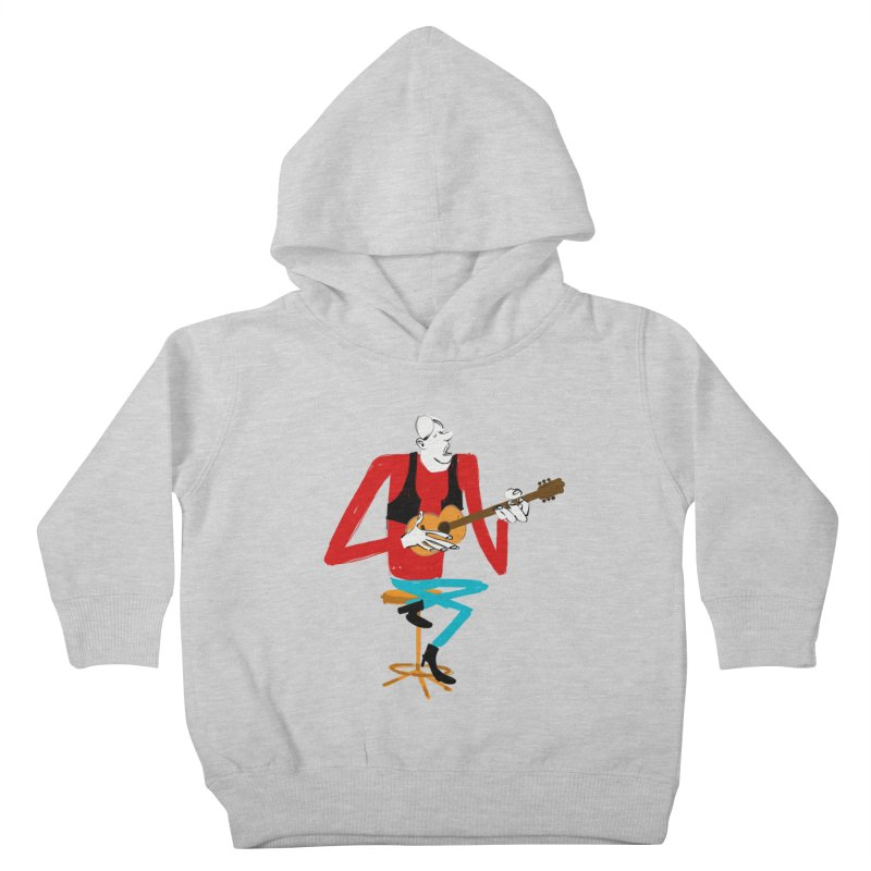 The Guitarist Kids Toddler Pullover Hoody by Kanjano Shop