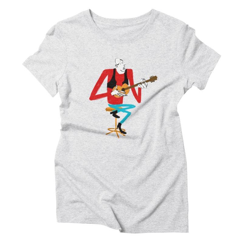 The Guitarist Women's T-Shirt by Kanjano Shop