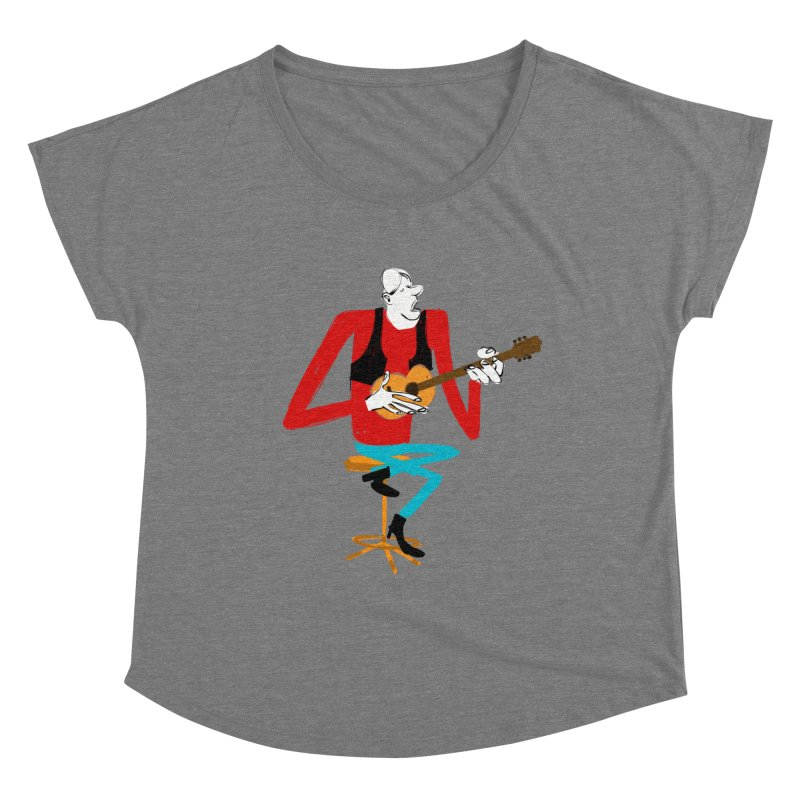 The Guitarist Women's Scoop Neck by Kanjano Shop