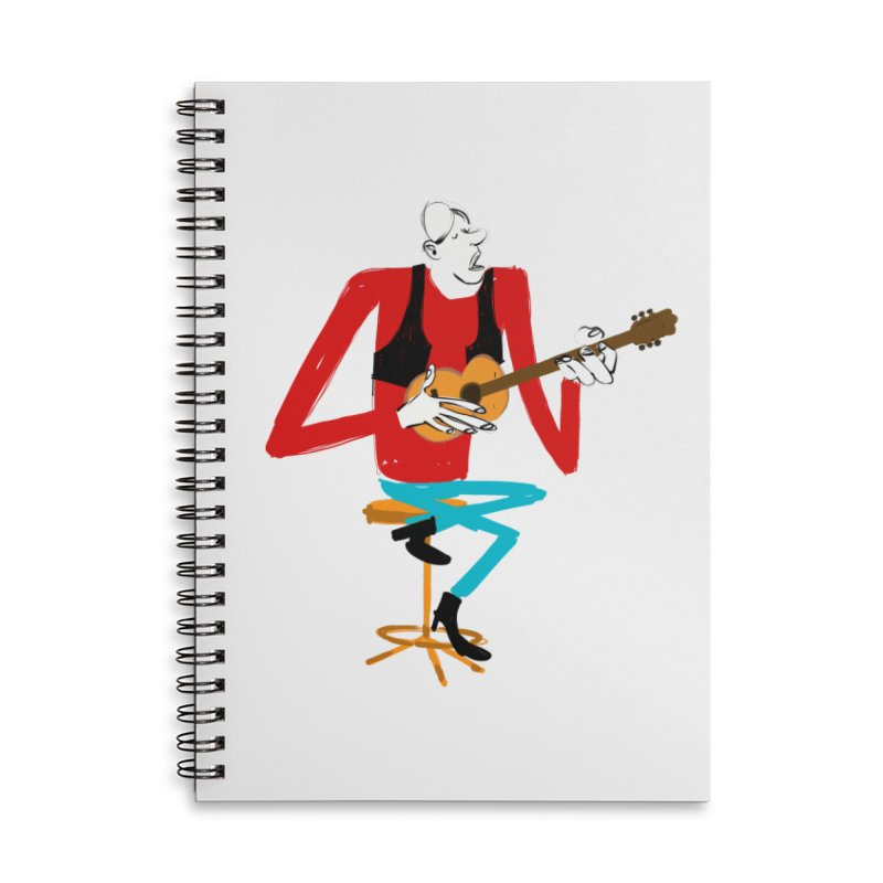 The Guitarist Accessories Notebook by Kanjano Shop