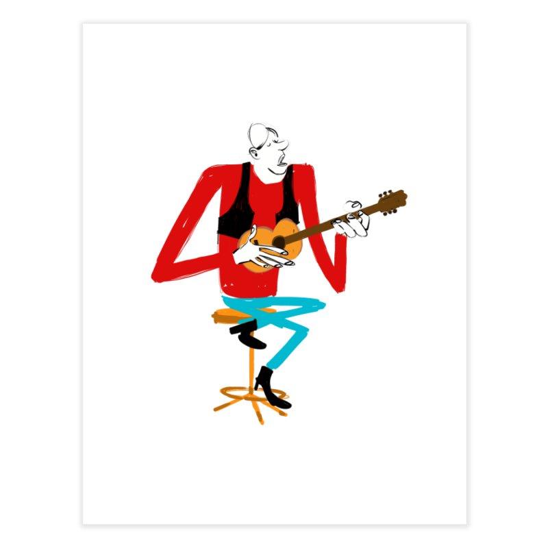 The Guitarist Home Fine Art Print by Kanjano Shop
