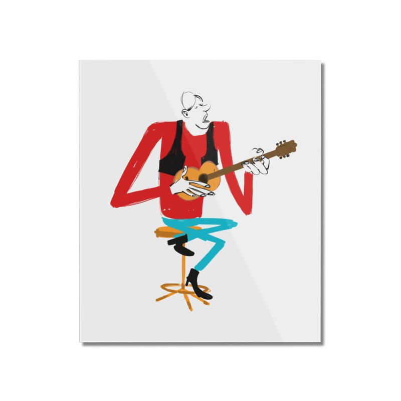 The Guitarist Home Mounted Acrylic Print by Kanjano Shop