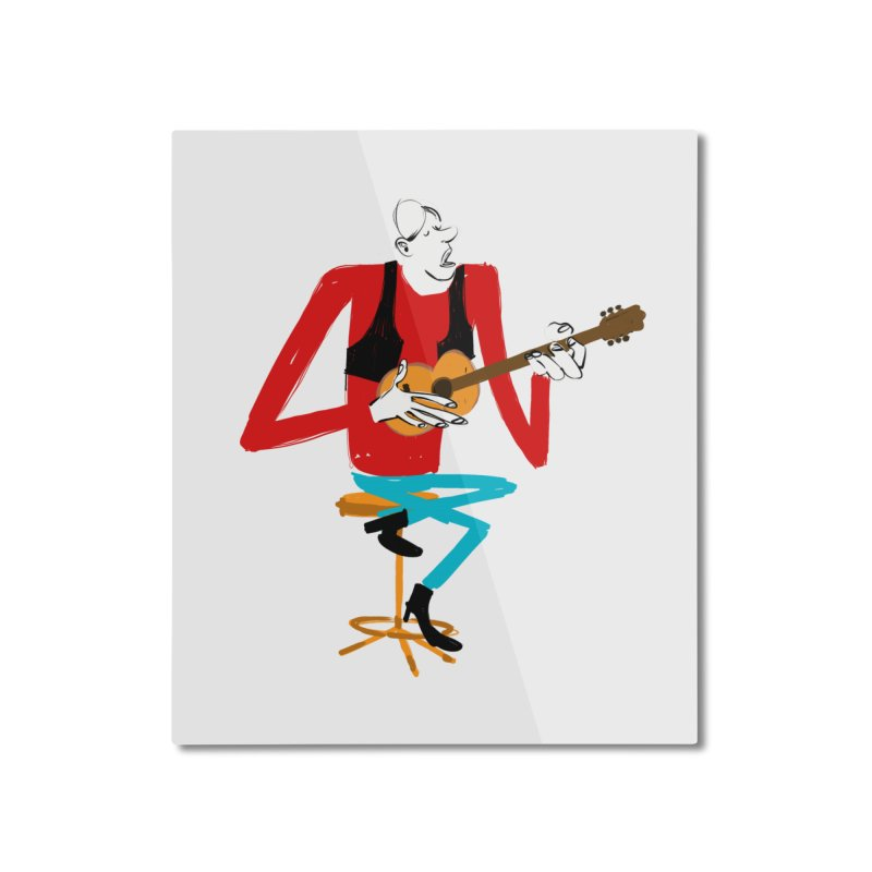 The Guitarist Home Mounted Aluminum Print by Kanjano Shop