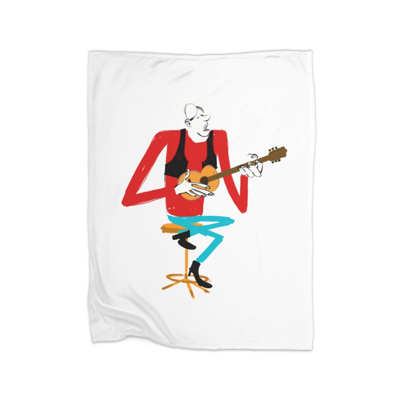 The Guitarist Home Blanket by Kanjano Shop