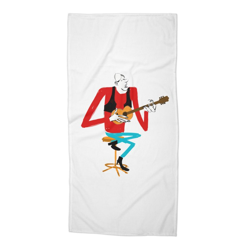 The Guitarist Accessories Beach Towel by Kanjano Shop