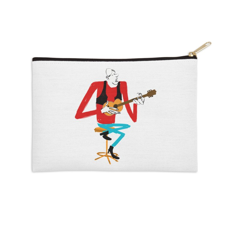 The Guitarist Accessories Zip Pouch by Kanjano Shop
