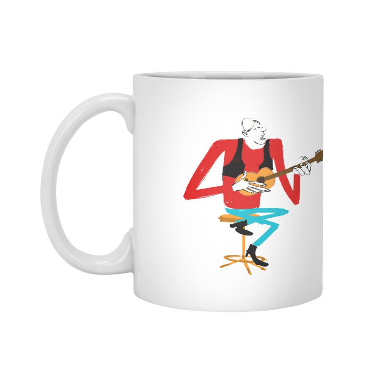 The Guitarist Accessories Mug by Kanjano Shop