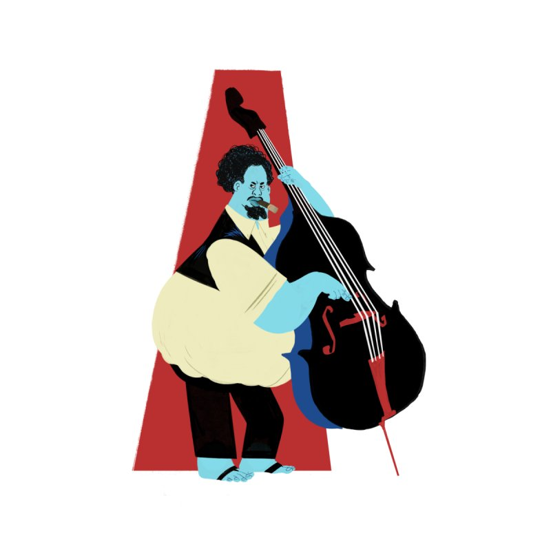 Charles Mingus Home Stretched Canvas by Kanjano Shop