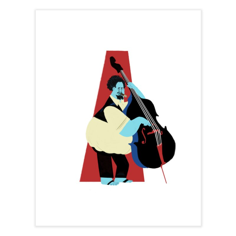 Charles Mingus Home Fine Art Print by Kanjano Shop
